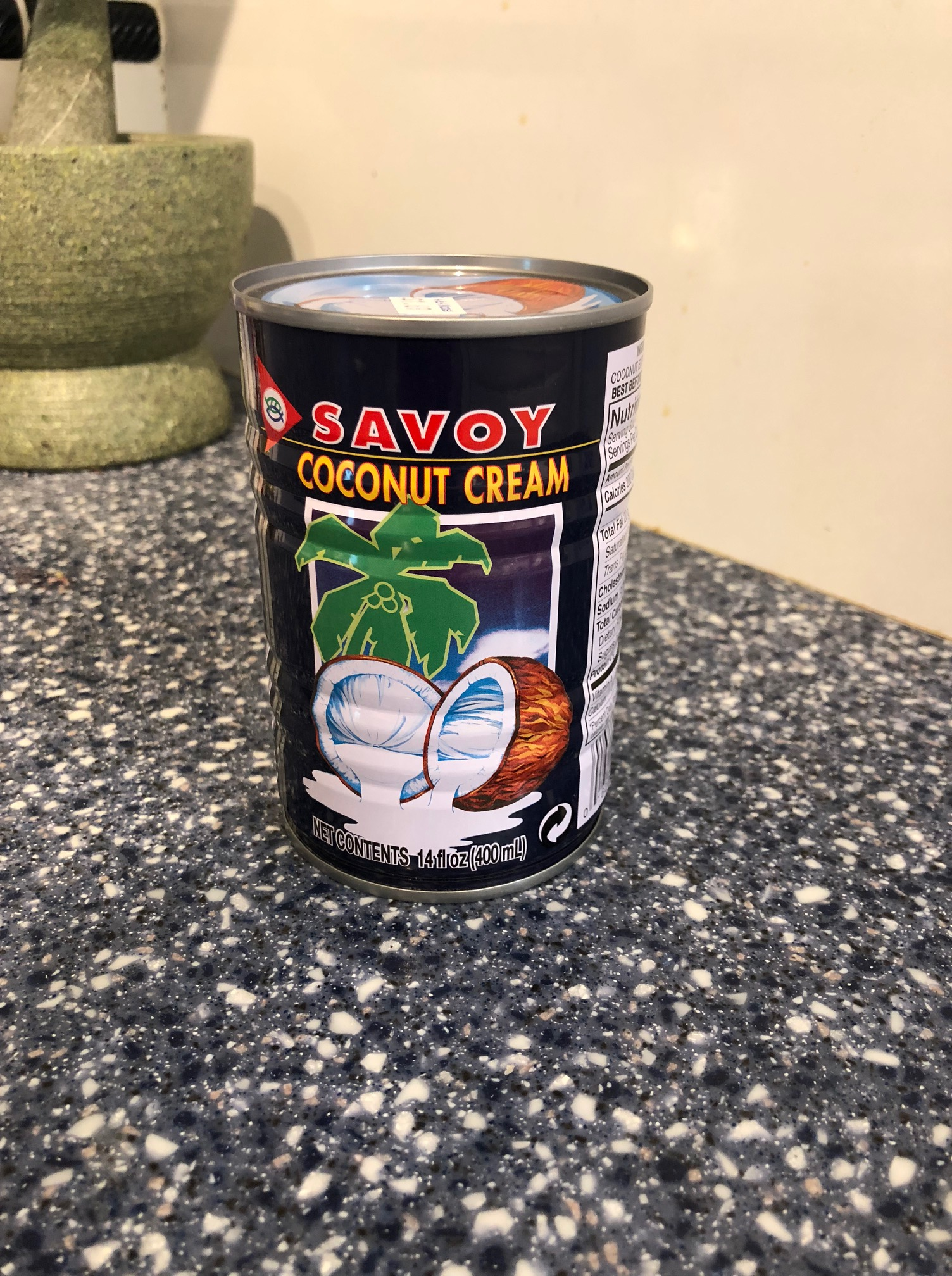 Can of Savoy Coconut Cream