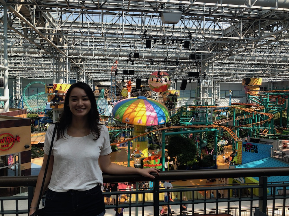 Catherine at the Mall of America