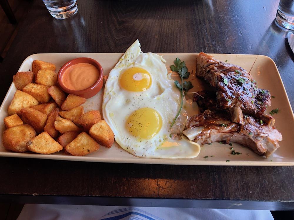 Eggs and Pork Ribs