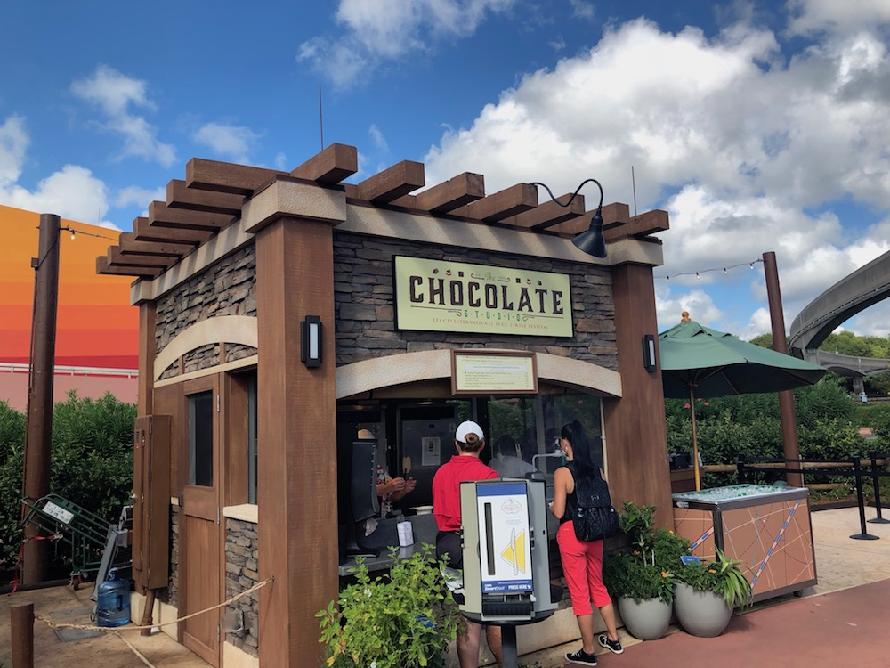 Chocolate Studio booth at Epcot