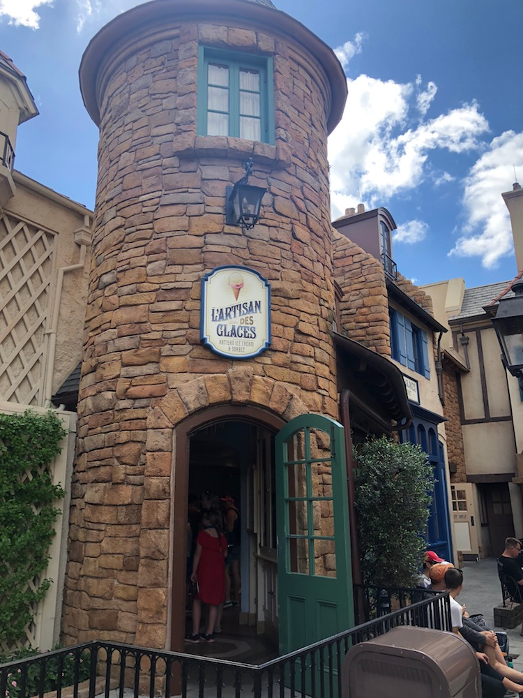Ice Cream store at France in Epcot