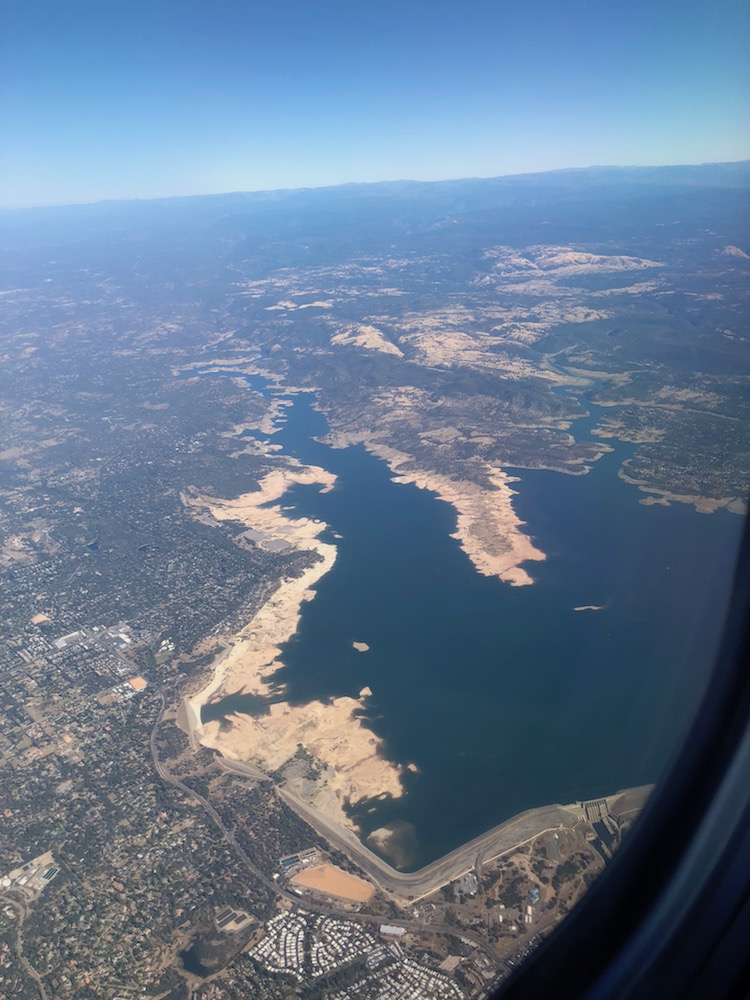 Folsom Lake seen from Plane