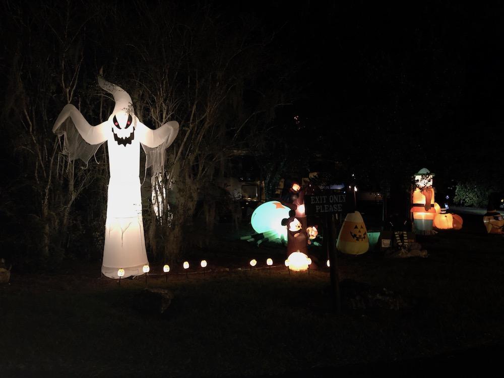 Halloween Decorations at RV Park